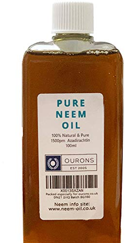 Ourons 100ml Neem Oil - Premium 100% Pure Multi-Use Seed Oil F