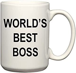 World's Best Boss Mug - The Office Michael Scott Mug - CoolTVProps - The Office TV Show Coffee Mug - The Office US Version - TV Show Mugs 15 oz
