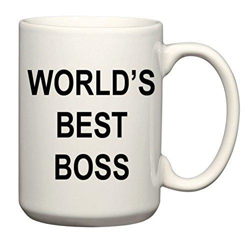 World's Best Boss Mug - 15 oz Ceramic - Perfect Gift - The Office Michael...