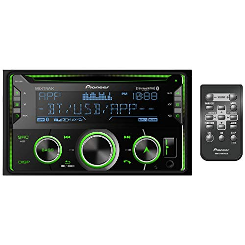PIONEER FH-S720BS Double DIN CD Stereo Receiver with MIXTRAX, Built-in Bluetooth, and SiriusXM-Ready, Black