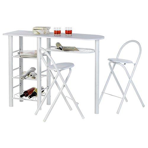 IDIMEX Bartisch Tresentisch Style, in weiß, inklusive 2 Barhocker