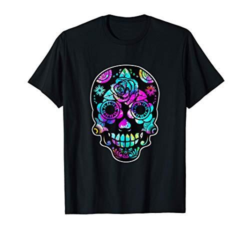 Day of the Dead Halloween Sugar Skull Men Women Gift Costume Camiseta