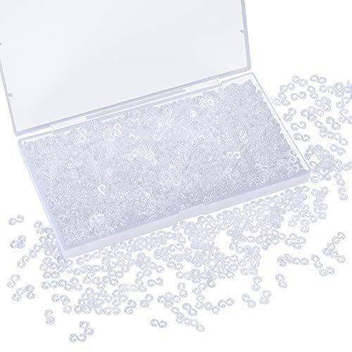 URATOT 1500 Pieces S Clips Rubber Band Clips Plastic Connectors Refills Kit Clip for DIY Loom Bracelet