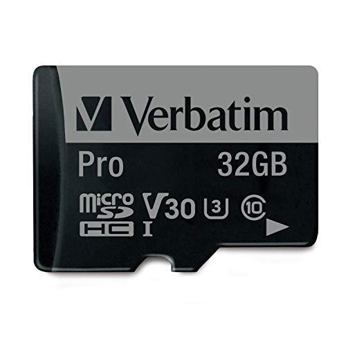 Verbatim Pro U3 Micro-SDHC-Karte - 32 GB, Wasser- und stoßfest, geeignet für 4K-Videoaufnahmen, schwarz
