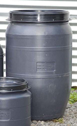 Maischefass mit Schraubdeckeln. Mostfass, Lagerfass, Lebensmittelfass, Getränkefass Camingfass (120 Liter)