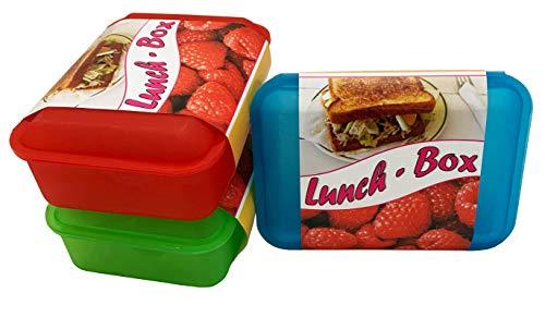 Iloda® 6x Brotdose für Kinder aus Kunststoff, Butterdose, Lunchbox, Brotbüchse, Vesperdose, Ideal geeignet für Schule oder Kindergarten, einfach und schnell verschließbar