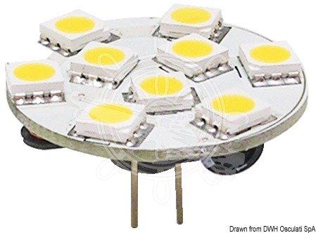 Osculati Glühbirne LED SMD G4 12/24V Halterung hinte Ø 24mm
