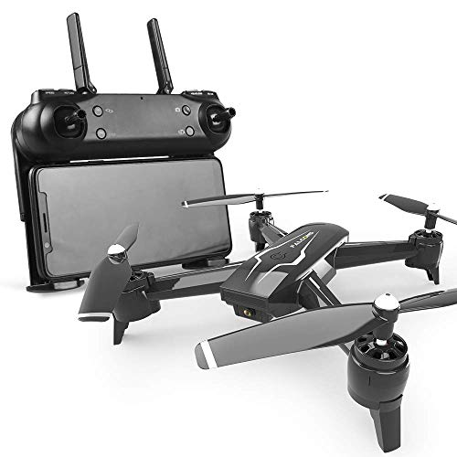 LDDZB Drone, 2.4G 720P FPV WiFi RC HD Aerial Dual Lens, Follow me/Gesture Camera Quadcopter, Suitable for Adult Beginners (Color : Black)