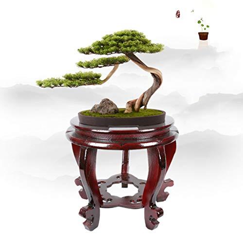 Estante de la maceta del soporte de la planta de m Soporte de flor redondo Florero del estante Bonsai soporte de flor Estilo chino Estante de planta de madera maciza clásico Kistler estante de pescado