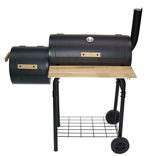 D&L BBQ Holzkohlegrill Barbecue 56510 Smoker Grill Grillwagen Standgrill Räucherofen AWZ