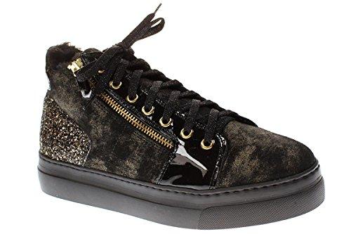 No Claim WANDA1 - Damen Schuhe Sneaker Schnürer - Polish-ORO-Lana, Größe:41 EU