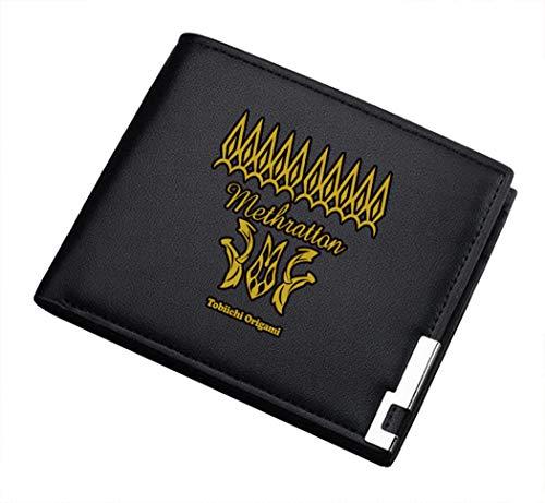 Cosstars Date A Live Anime Cartera Cuero Artificial Billetera Hombre Portatarjetas Slim Wallet 1 / B