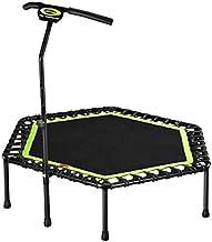 Oefening trampoline indoor trampoline, 48 inch mini fitness trampoline met leuning verstelbare oefening Trampoline Rebound...