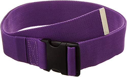 """Gait Belt with Plastic Buckle by LiftAid - Transfer and Walking Aid with Belt Loop Holder for Assisting Therapist, Nurse, Home Care - 60""""L x 2""""W (Purple)"""