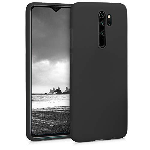 kwmobile Funda Compatible con Xiaomi Redmi Note 8 Pro - Carcasa de TPU Silicona - Protector Trasero en Negro Mate