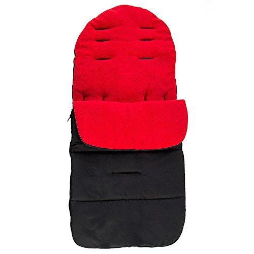 Coversolate Baby Schlafsack Kinderwagen mit Abnehmbare Reißverschlüsse Winter Babyfußsack Einschlagdecke für Babyschale Winterfußsack Buggy (Rot)