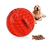 mekeet palla giocattolo per cani, palla da gioco per pulizia dei denti, palla resistente al morso non tossico masticare palla per cane di taglia medio piccola cucciolo di gatto