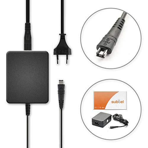 subtel® Netzteil kompatibel mit Canon LEGRIA Mini X LEGRIA HF R806 R88 R86 R77 R66 R606 R506 R500 R406 R36 R306 R26 HF M56 VIXIA Mini X HF R400 R52 T50 R300 R20 Ladegerät CA-110 Ladekabel Netzadapter