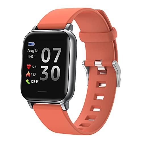 SHANGH Reloj Inteligente S50 IP68 Resistente Al Agua con Bluetooth 5 0 Monitor de Ritmo Cardíaco Pulsera Inteligente para Mujer con Pantalla de TFT-LCD Multitáctil de 1 3 Pulgadas