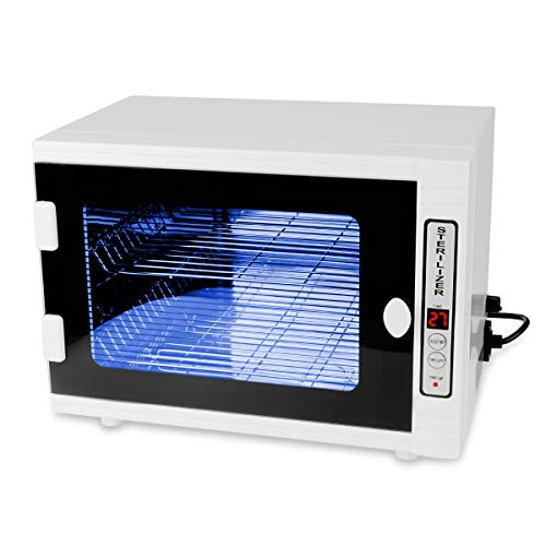 Gimify U.V Disin.fection Cabinet, O.zone Machine Box 12L with Timer LED Panel (Normal Temperature) for Barber Salon Nails Personal Care Tools, 5-60 min