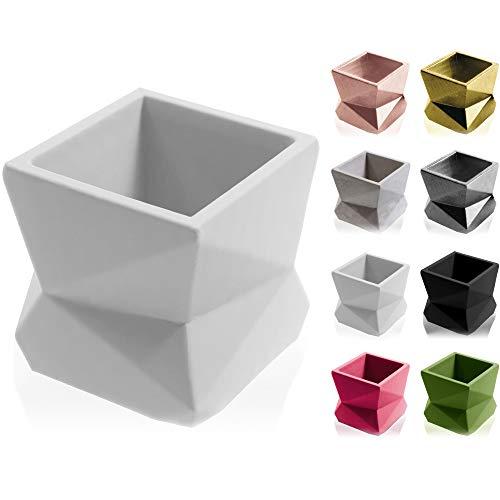 concrette - Vaso per fiori in cemento Modern No3 Ø 7,5 cm . 17 colori