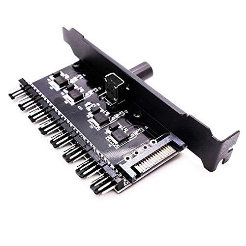 EKDJKK 12V Chassis Fan Hub CPU Cooling, Cooling Fan Hub, Computer CPU Cooling Fans, Adapter Chassis Fan and CPU Fan Hub PC Fan Controller, 3 Pin 4 Pin to 8 Pin CPU Power Adapter