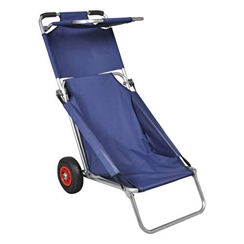 vidaXL Chariot de Plage avec Roues Portable et...