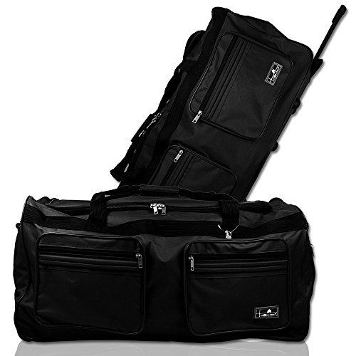 XXL Reisetasche - Trolley - Koffer - Tasche - Trolleytasche Miami mit Farbauswahl (schwarz)