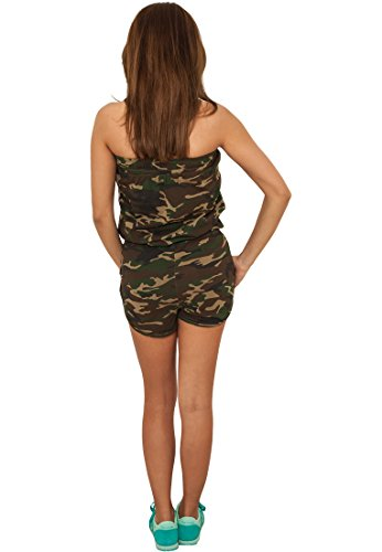 Urban Classics Ladies Camo Hot Jumpsuit TB735; Farbe:wood camo-00396 - 3