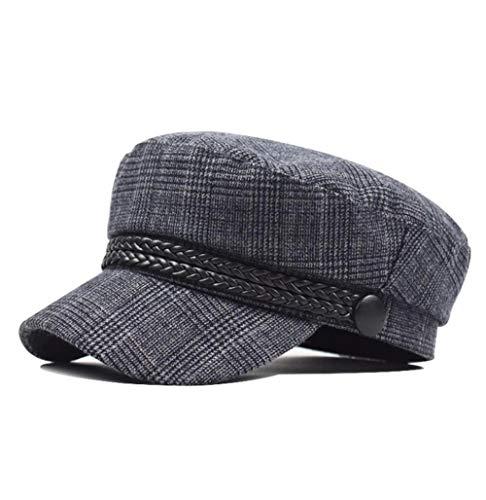 Yhhzw Autumn Winter Hats For Women Solid Plain Octagonal Newsboy Cap Men Ladies Casual Wool Hat Winter Beret Women Painter Cap Size 58Cm