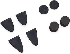 PS5コントローラー DualSense専用 アナログスティック/ボタンカバー 【ブラック】 シリコン製 汚れ防止 操作性アップ 滑り止め スティック保護 デュアルセンス用ボタンカバー FMTDBTP0513