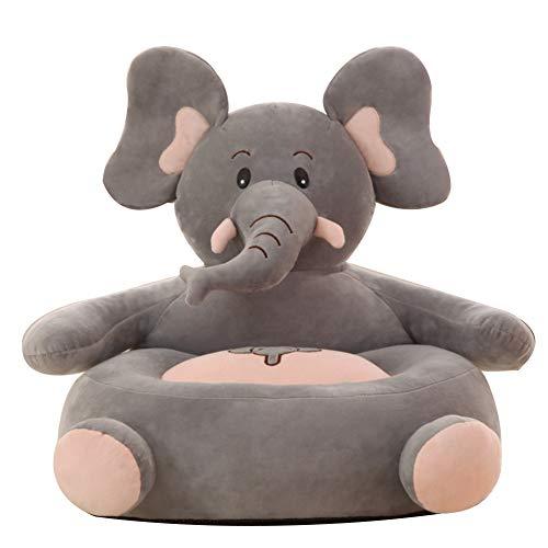 Kinder Tatami cusion Sofa Sessel, Mini Niedliche Couch Kleinkind Sessel Cartoon förmigen stilmöbel Lesen Stuhl Für Wohnzimmer Elefant 50 x 30 x 20cm