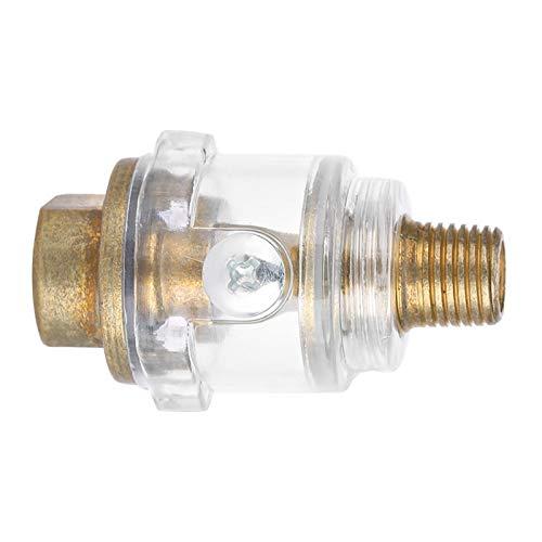 EBTOOLS Mini lubricador para herramientas neumáticas en línea 1/4'BSP Mini herramienta neumática en línea Lubricador de aceite Aceitera Compresor Manguera Lubricación automática Accesorios para herra