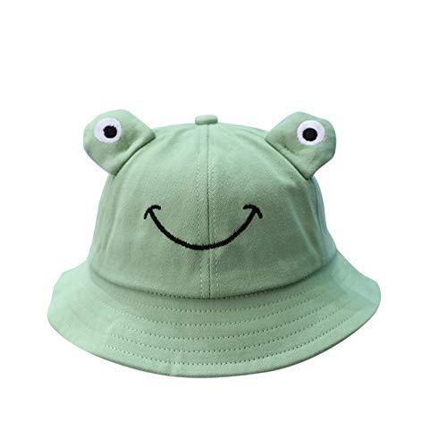Sombrero de cubo, Niños Lindo Rana Pescador Sombrero de Protección de Sol Gorras de Playa Sombrero de Niño Plegable Pescador Caps > 4 meses de edad