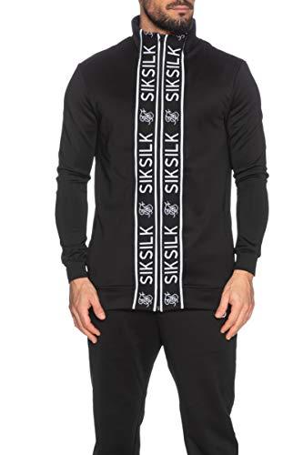 Sik Silk - Chándal con Cremallera para Hombre, Color Negro