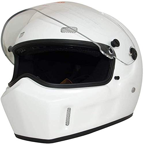 ZHXH Full Face Motorradhelm, Fiberglas Adult Evergreen Riding Offroad Helm Dot Approved/mehrfach Optional,