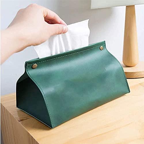 LBHH Caja para Pañuelos Cuadrada 1 Piezas Caja de Bombeo de Caja de pañuelos de Cuero,Bolsa de pañuelos Multifuncional,Bolsa de Almacenamiento de Papel higiénico