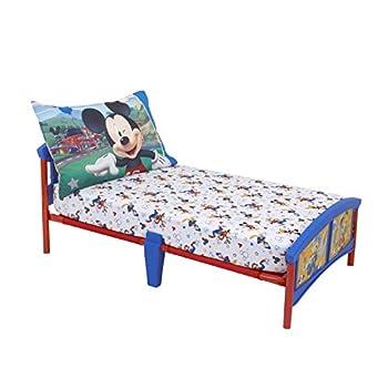 Disney Mickey Mouse Having Fun Super Soft 2 Piece Toddler Sheet Set White/Grey/Blue/Red