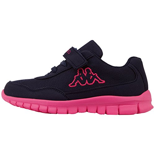 Kappa Unisex-Kinder Follow BC Sneaker, Blau (Navy/Pink 6722), 35 EU