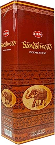 HEM Sandal (Sandalwood) - Box of Six 20 Gram Tubes (120 Gram)