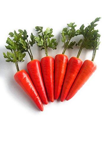 Mezly 6pcs Simulation Karotten Künstliche Gemüse Home & Dekorationen Küche