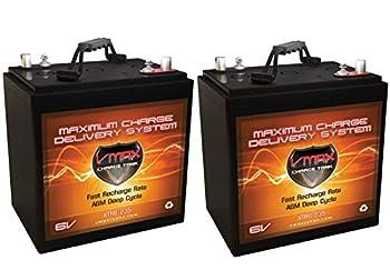 Qty 2  VMAX XTR6-235 6 Volt 235Ah Group GC2 AGM Deep Cycle Battery Capacity  235Ah  Energy  1.62kWH Each  Reserve Capacity  500min Each