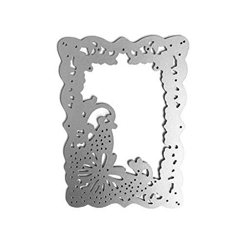 llwei258 snijden Dies Papieren Kaarten Sjabloon Koolstofstaal Scrapbooking Decoratie Vlinder-Patroon Kant Holle Achtergrond