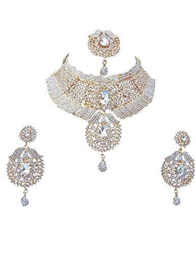 Finekraft Zircon Wedding Designer Pearls Necklace Jewelery