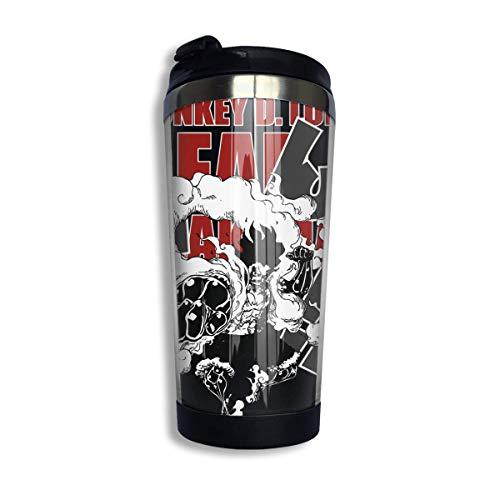 Edelstahl Reise Kaffeetasse, Anime Gear 4 Snakeman Ruffy Kaffee Reisebecher Tasse Edelstahl Vakuumisolierter Becher 13,5 Unzen