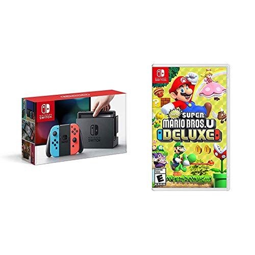 Nintendo Switch Neon + New Super Mario Bros. U™ Deluxe - Super...