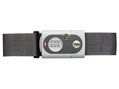 Yale TSA Luggage Strap, Grey or Red (Random Colour Sent) Bullets change to: