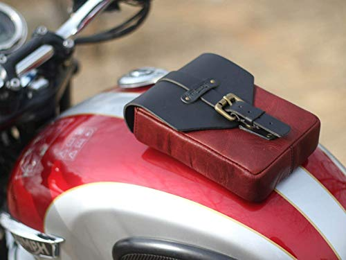 Trip Machine Company Leather Motorcycle Tank Pouch/Bag Cherry Red