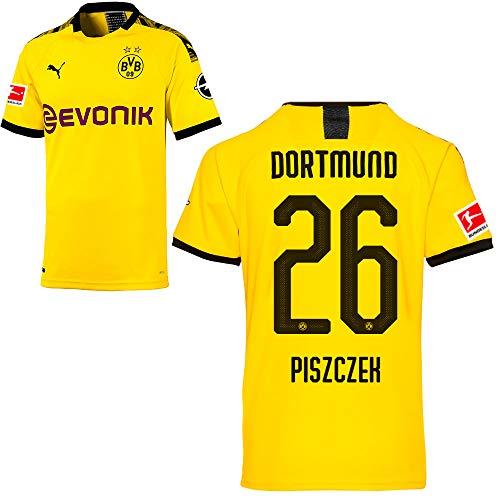 PUMA Borussia Dortmund BVB Heimtrikot 2019/20 Home Trikot Sponsor BL Logo Herren Lukasz Piszczek 26 Gr M