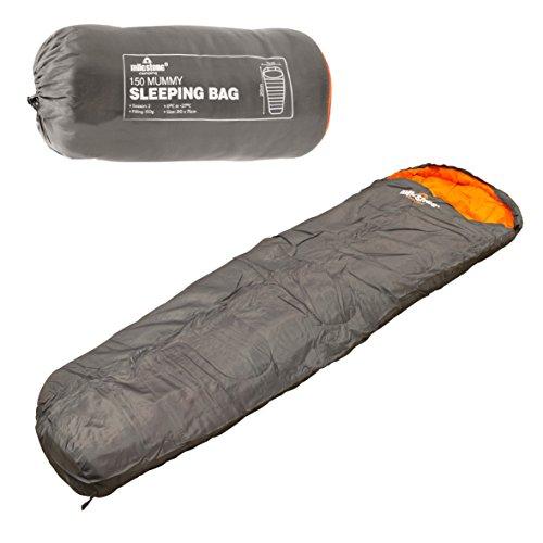 Milestone Camping Mummy - Sacco a pelo, grigio/arancione